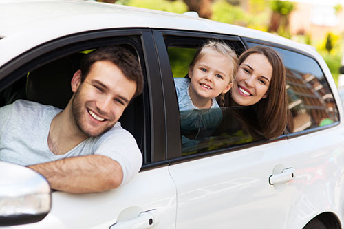Family Accepting a vehicle transport