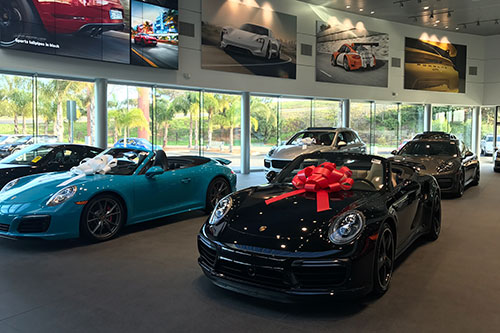 Brand new Car at Porsche Dealership