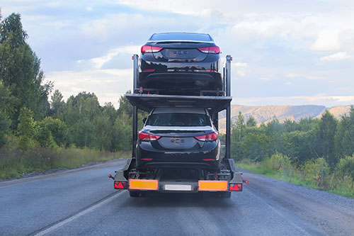 dealership car transporter
