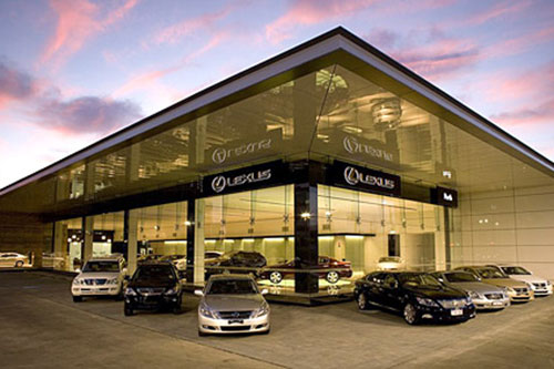 View of a LExus Dealership