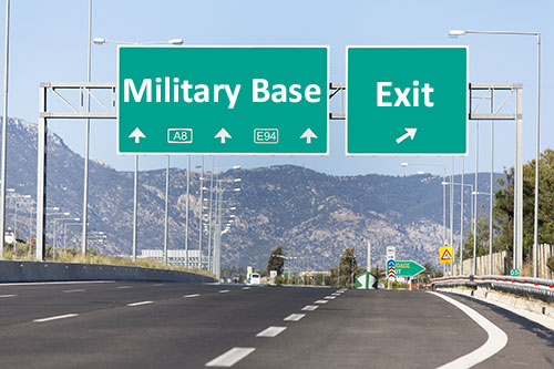 Highway Sign for a Military Base