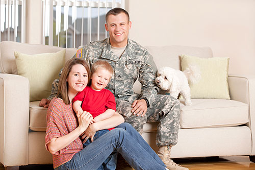 Military Family enjoying their new home