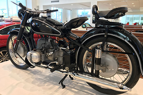 New Motorcycle at a dealership