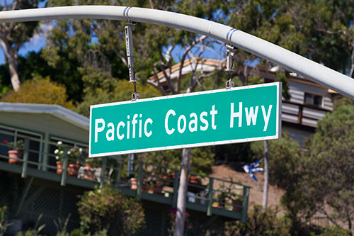 Pacific Coast Highway Street Sign