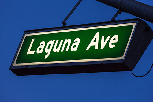 Laguna Ave Street Sign