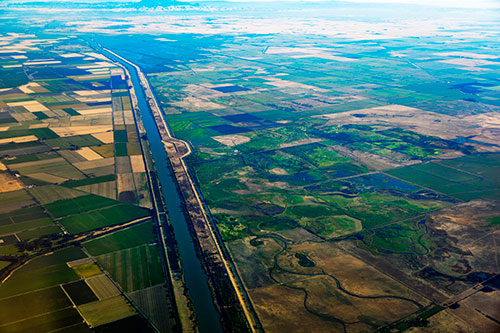 Aerial view of Sacramento
