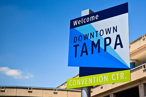 Downtown Tampa sign