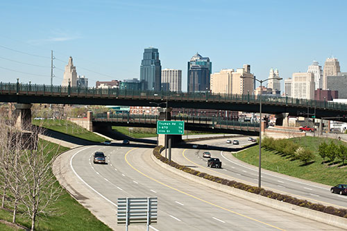 Kansas City and Freeway