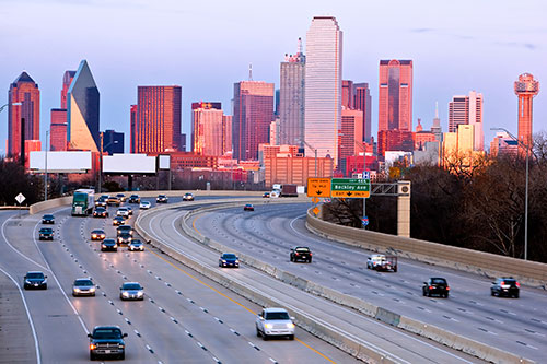 Transport a car to the city of Dallas