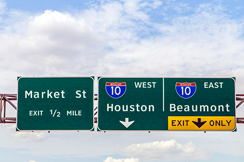 Houston freeway signs