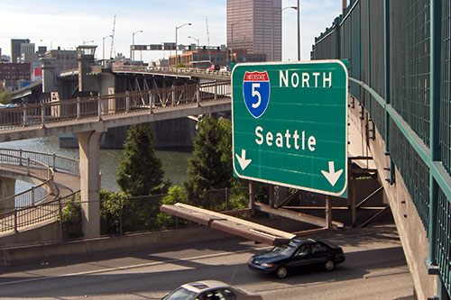 Seattle freeway sign